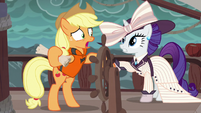 "Applejack ""the only way to find Plunder Cove"" S6E22"
