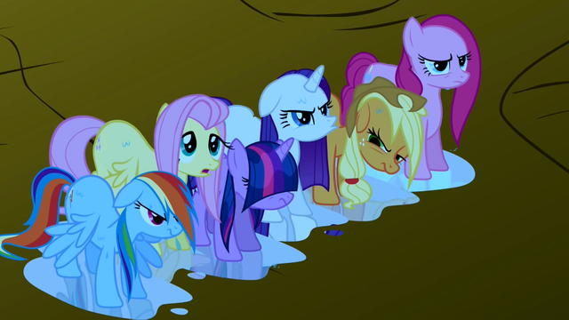File:Main ponies soaking wet S1E2.png
