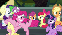 Pinkie Pie about to speed away S6E7