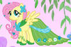 Fluttershy in her gala dress crop S1E14