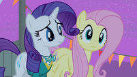 Fluttershy sees Zipporwhill and her dad leaving S4E14