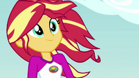 Sunset Shimmer with hair blowing in the wind EG4
