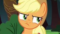 Applejack rolls her eyes at Rainbow Dash S6E18