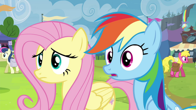 File:Fluttershy and Rainbow double-take S4E22.png
