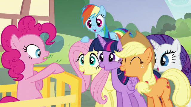 "File:Main five cry out ""Sugarcube Corner!"" S5E19.png"