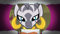 Zecora looking inside Big Mac's mouth S4E14