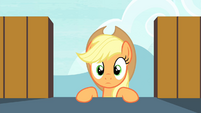 Applejack reaching the tower's top S4E20