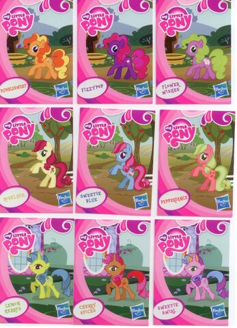 File:EU wave 1 mystery packs scans - Bumblesweet, Fizzypop, Flower Wishes, Roseluck, Sweetie Blue, Pepperdance, Lemon Hearts, Cherry Spices, Sweetie Swirl.jpg