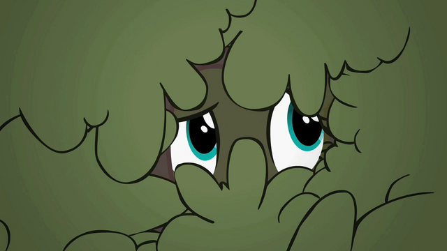File:Fluttershy peeking out from bushes S2E01.png
