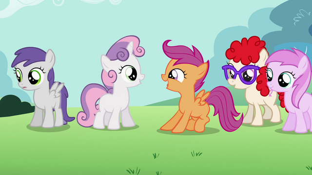 File:Sweetie Belle and Scootaloo happy S02E06.png