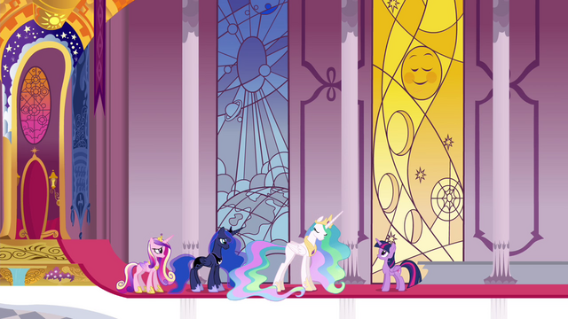 File:Celestia, Luna and Cadance now powerless S4E26.png
