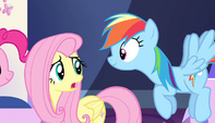 "Fluttershy ""Maybe I'll stay here with Spike"" S5E1"