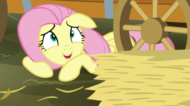 """File:Fluttershy """"a few pieces of hay"""" S5E21.png"""