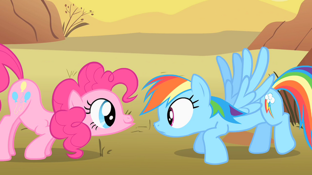 File:Pinkie Pie scares Rainbow Dash S1E21.png