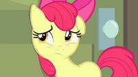 Apple Bloom listening to other Apples talking inside the room S4E17