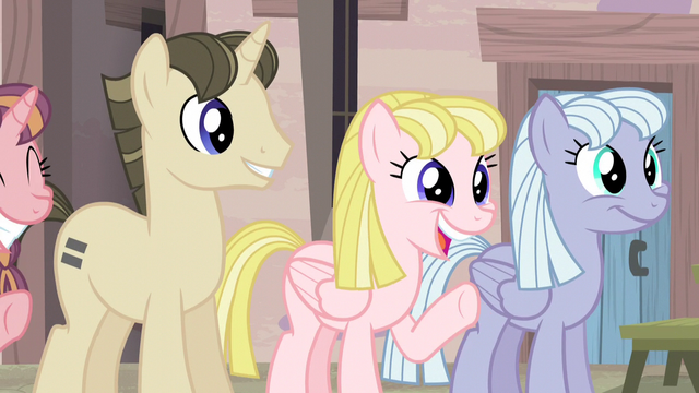 File:Equalized ponies welcoming Fluttershy S5E02.png
