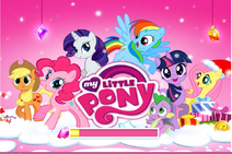 MLP mobile game Hearth's Warming Eve loading screen