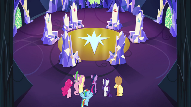 File:Mane 6 and Spike enter the throne room S4E26.png