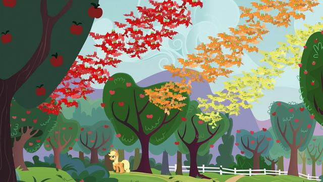 File:Applejack wakes up fruit bats S03E08.png