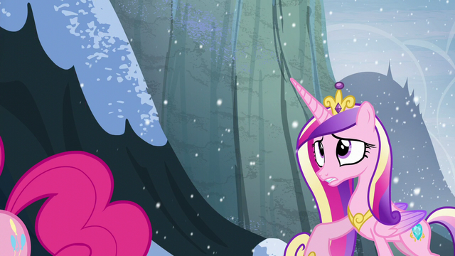 File:Pinkie wishes Cadance good luck S5E11.png
