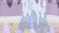The Crystal Empire castle transforming S3E01