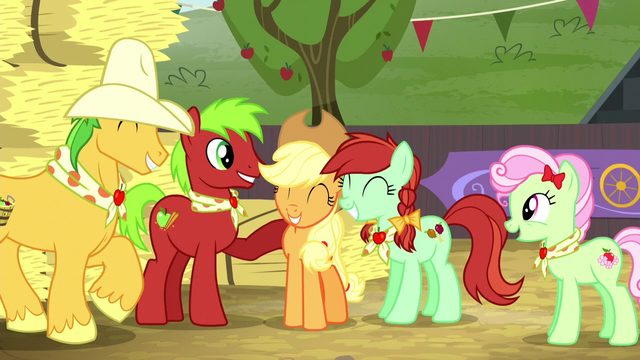 File:Applejack and relatives feeling proud S5E6.png