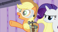 """Applejack """"there'll be plenty of hot water"""" S6E10"""
