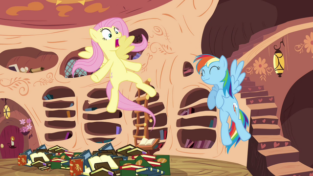 File:Fluttershy surprised that she is being appointed for the mission S3E05.png