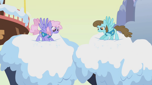 File:Rainbowshine and brown-maned Sassaflash S1E11.png