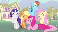 Rarity & Rainbow Dash laughing S3E5