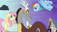 "Rainbow Dash accuses Discord ""yeah, right!"" S4E01"