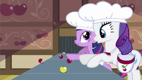 Rarity oops near miss S2E14