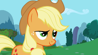 Applejack cocked eyebrow S1E4