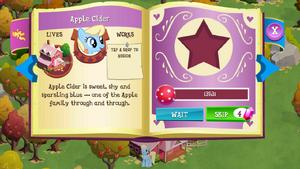 Apple Cider album page MLP mobile game