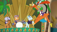 Discord coming out of the saxophone S6E17