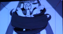 Princess Luna partially covered in darkness S4E1