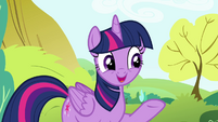 "Twilight ""look how much fun Pinkie Pie's having"" S4E18"