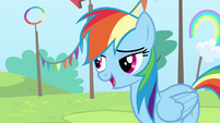 Rainbow 'some major tail at the Academy' S4E10