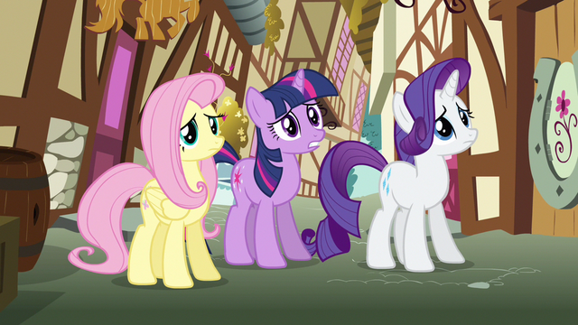 File:Rarity & Fluttershy shaking heads S3E7.png