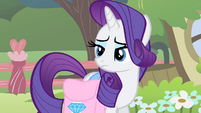 Rarity listening to Fluttershy talking S4E14