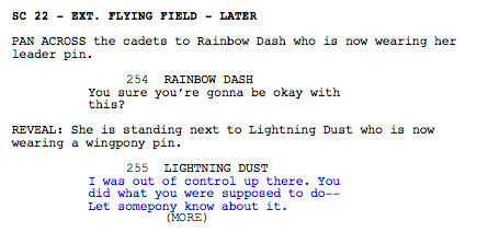 File:Wonderbolts Academy script - original ending (part 1).jpg
