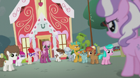Diamond confronts Cheerilee and school foals S5E18
