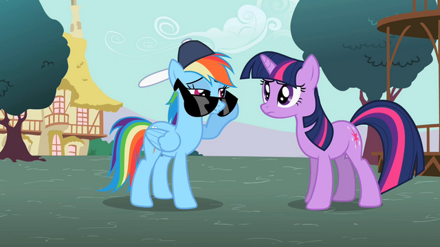 File:Rainbow Dash peeking over sunglasses S2E07.png