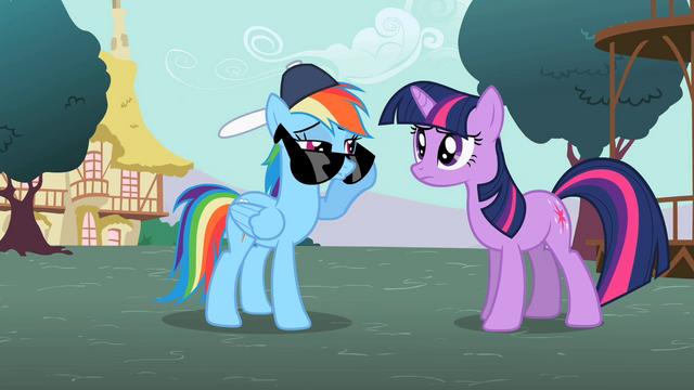 File:Rainbow Dash peeking over sunglasses S2E07.png