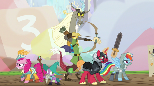 File:Discord and friends about to battle S6E17.png