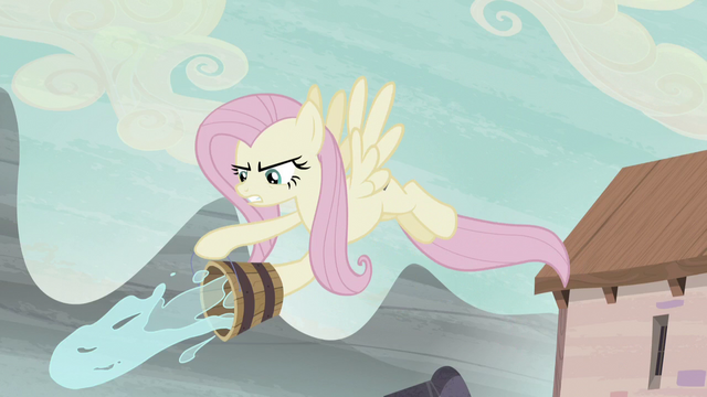 File:Fluttershy throwing water on Starlight S5E2.png