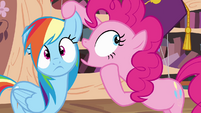 "Pinkie Pie whispering ""a secret!"" S4E04"