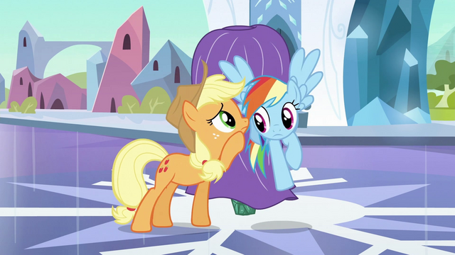 File:Rainbow Dash listening to Applejack S3E2.png