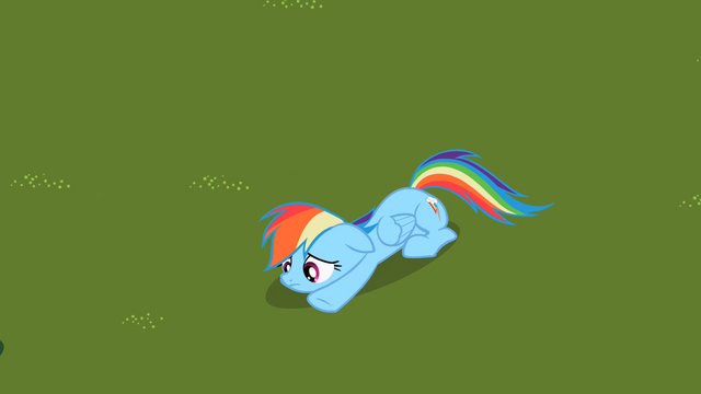 File:Sad Rainbow Dash on grass S2E8.png