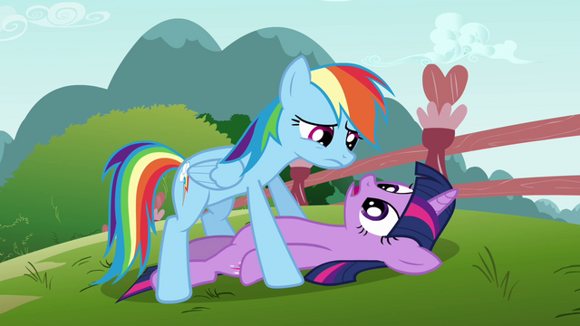 File:Rainbow Dash over Twilight S3E5.png